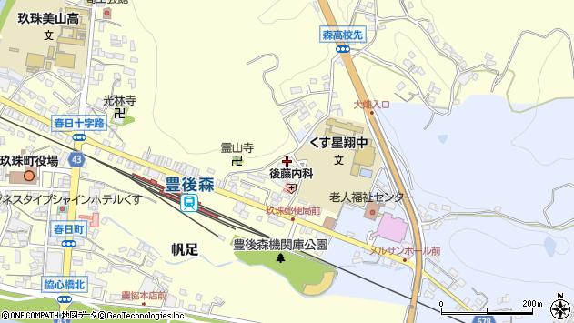 大分県玖珠郡玖珠町帆足503周辺の地図