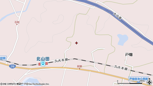 大分県玖珠郡玖珠町戸畑1475周辺の地図