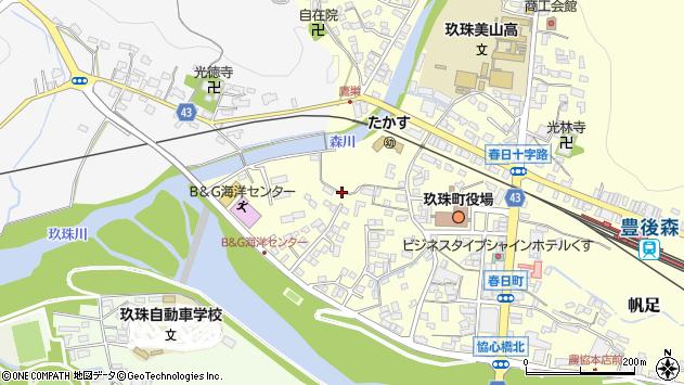 大分県玖珠郡玖珠町帆足285周辺の地図