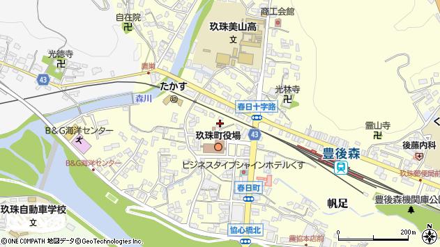 大分県玖珠郡玖珠町帆足227周辺の地図