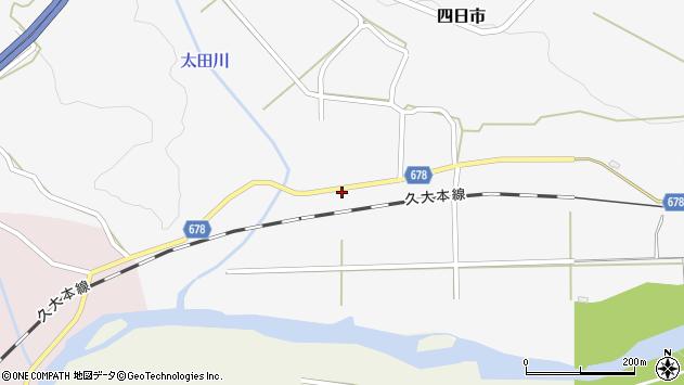 大分県玖珠郡玖珠町四日市662周辺の地図