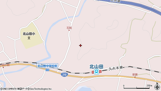 大分県玖珠郡玖珠町戸畑石框周辺の地図