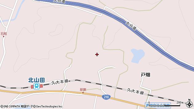 大分県玖珠郡玖珠町戸畑駅東周辺の地図