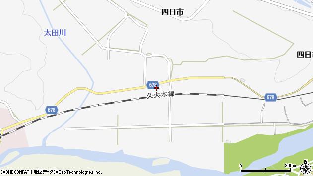 大分県玖珠郡玖珠町四日市788周辺の地図