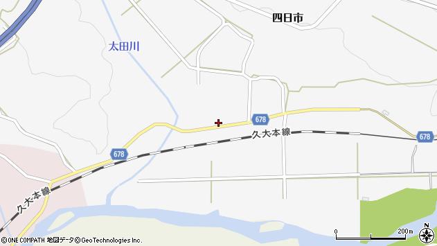 大分県玖珠郡玖珠町四日市683周辺の地図