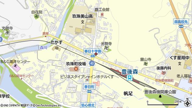 大分県玖珠郡玖珠町帆足231周辺の地図