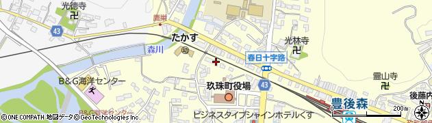 大分県玖珠郡玖珠町帆足2周辺の地図