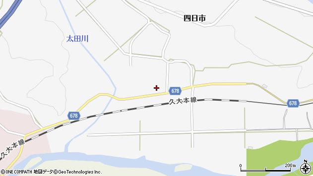大分県玖珠郡玖珠町四日市682周辺の地図