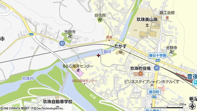 大分県玖珠郡玖珠町帆足5周辺の地図