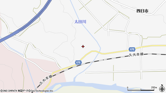 大分県玖珠郡玖珠町四日市1116周辺の地図