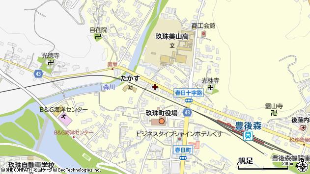 大分県玖珠郡玖珠町帆足209周辺の地図