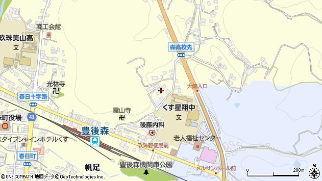 大分県玖珠郡玖珠町帆足499周辺の地図