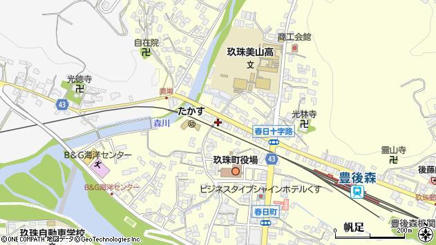 大分県玖珠郡玖珠町帆足225周辺の地図
