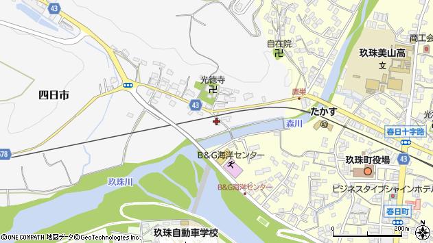 大分県玖珠郡玖珠町四日市348周辺の地図