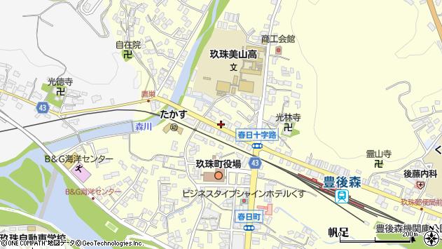 大分県玖珠郡玖珠町帆足五月町周辺の地図