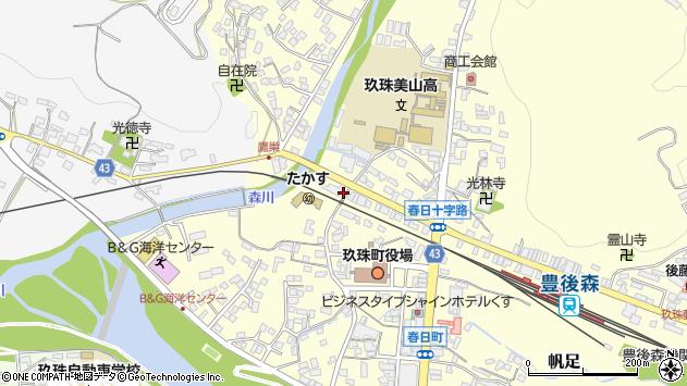 大分県玖珠郡玖珠町帆足224周辺の地図