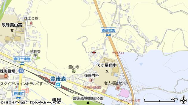 大分県玖珠郡玖珠町帆足497周辺の地図