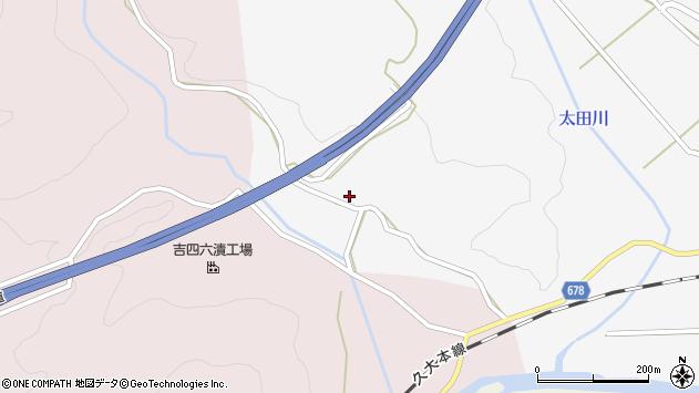 大分県玖珠郡玖珠町四日市1201周辺の地図