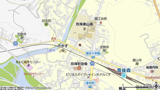 大分県玖珠郡玖珠町帆足211周辺の地図