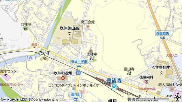 大分県玖珠郡玖珠町帆足139周辺の地図