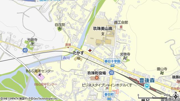 大分県玖珠郡玖珠町帆足213周辺の地図