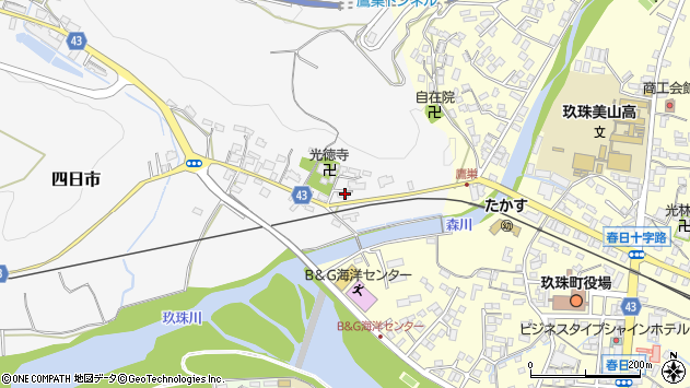 大分県玖珠郡玖珠町四日市353周辺の地図