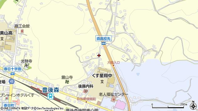大分県玖珠郡玖珠町帆足522周辺の地図