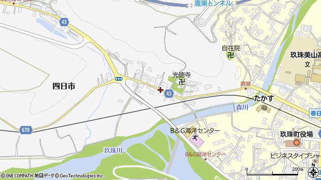 大分県玖珠郡玖珠町四日市290周辺の地図