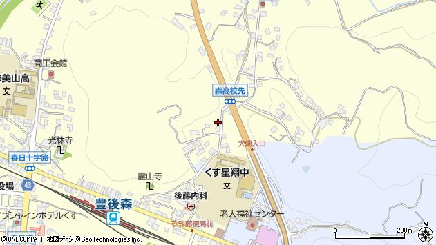 大分県玖珠郡玖珠町帆足525周辺の地図