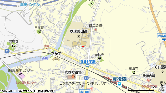 大分県玖珠郡玖珠町帆足190周辺の地図