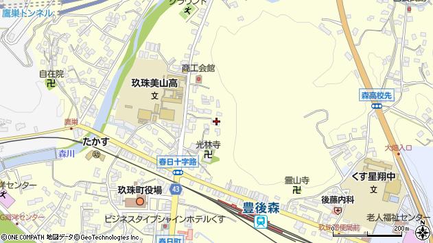 大分県玖珠郡玖珠町帆足136周辺の地図