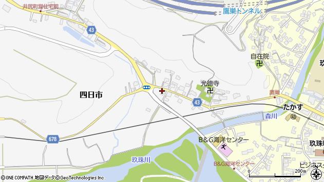 大分県玖珠郡玖珠町四日市267周辺の地図