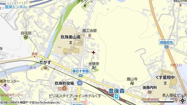 大分県玖珠郡玖珠町帆足165周辺の地図