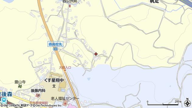 大分県玖珠郡玖珠町帆足672周辺の地図