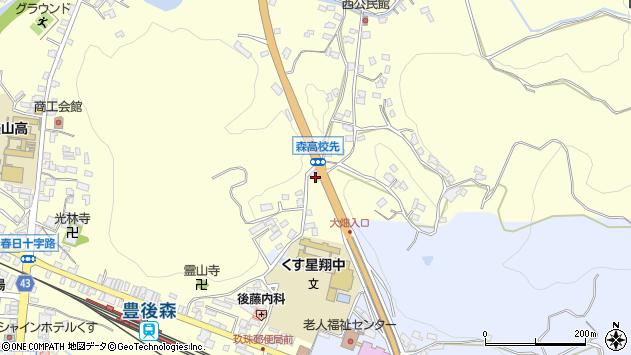 大分県玖珠郡玖珠町帆足524周辺の地図