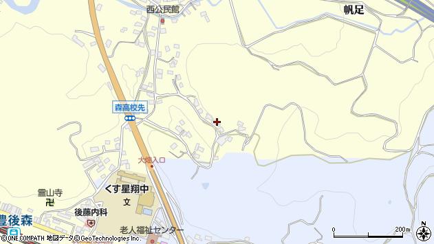 大分県玖珠郡玖珠町帆足671周辺の地図