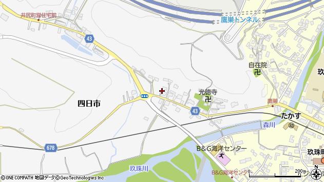 大分県玖珠郡玖珠町四日市288周辺の地図