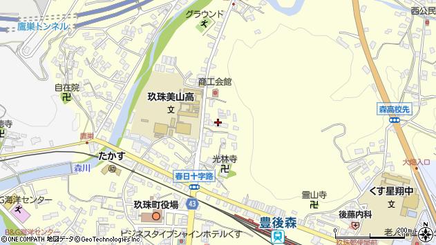 大分県玖珠郡玖珠町帆足167周辺の地図