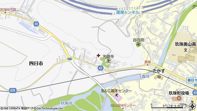 大分県玖珠郡玖珠町四日市307周辺の地図