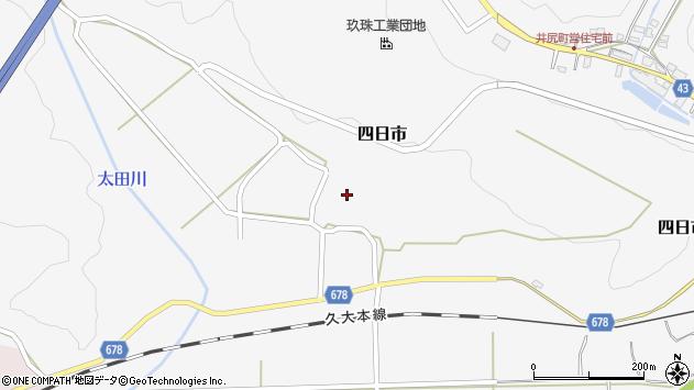 大分県玖珠郡玖珠町四日市867周辺の地図