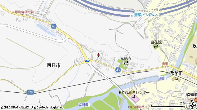 大分県玖珠郡玖珠町四日市291周辺の地図