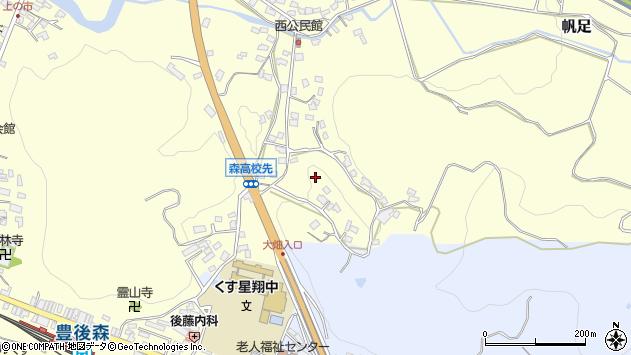 大分県玖珠郡玖珠町帆足大畑周辺の地図