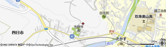 大分県玖珠郡玖珠町四日市十之釣周辺の地図