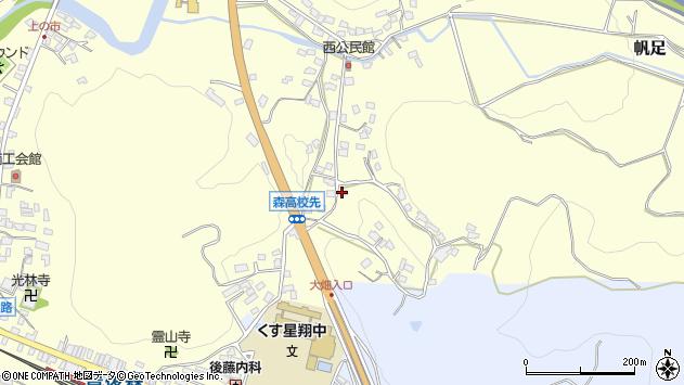 大分県玖珠郡玖珠町帆足745周辺の地図