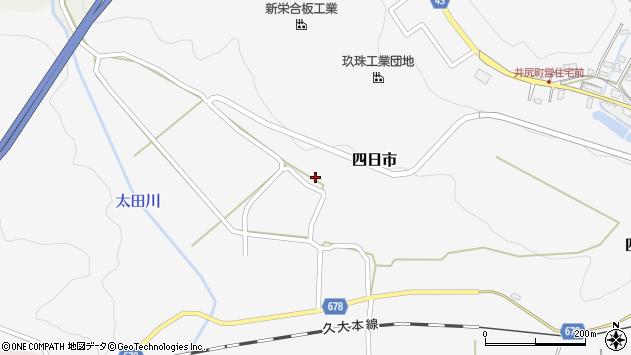 大分県玖珠郡玖珠町四日市733周辺の地図