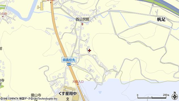 大分県玖珠郡玖珠町帆足755周辺の地図