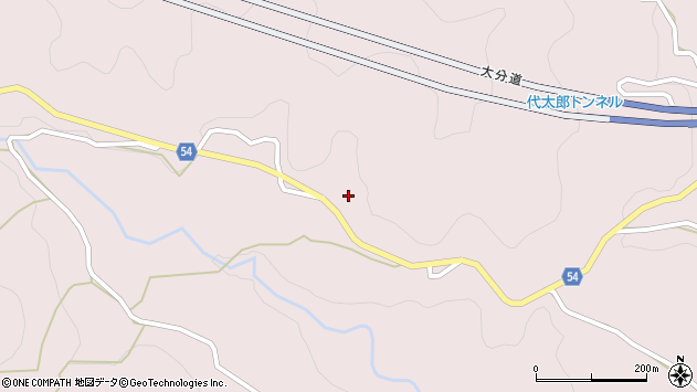 大分県玖珠郡玖珠町戸畑5125周辺の地図