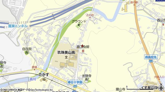 大分県玖珠郡玖珠町帆足121周辺の地図