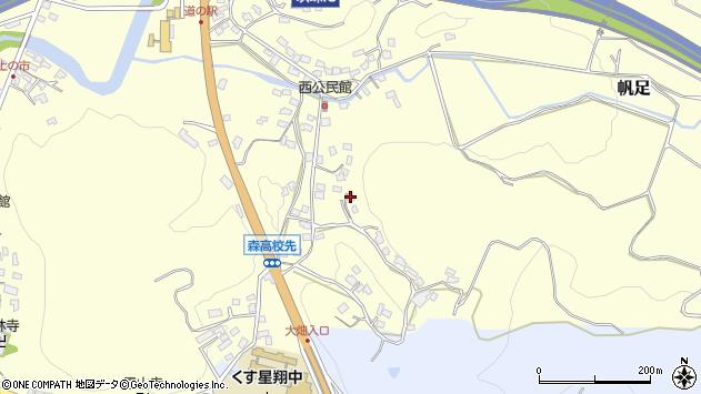 大分県玖珠郡玖珠町帆足748周辺の地図