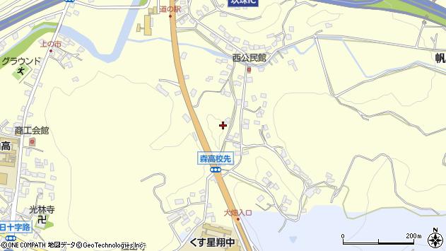 大分県玖珠郡玖珠町帆足864周辺の地図